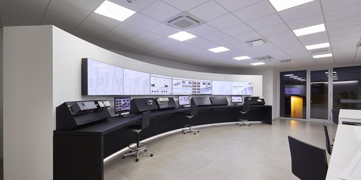 design e arredo uffici di controllo ABB