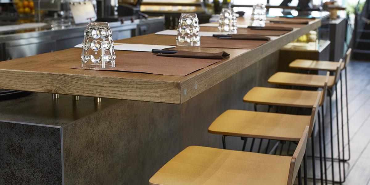 dettaglio dell'arredamento del ristorante Ciareghino