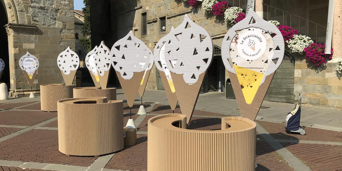 dettagli dello stand Grifal per l'evento La stracciatella in Bergamo