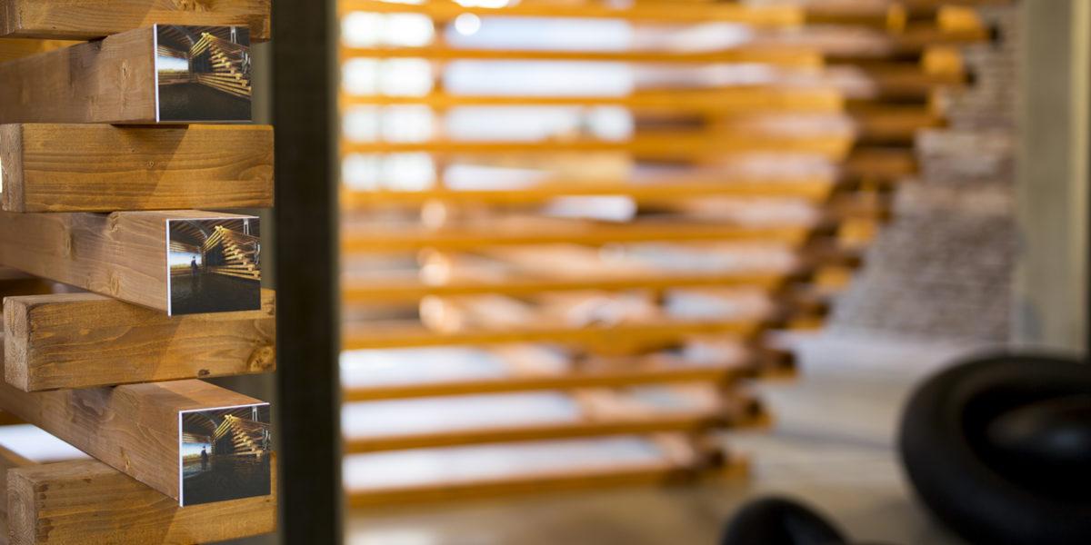 dettaglio dell'allestimento di Standgreen per il Padiglione Argentina alla Biennale 2016