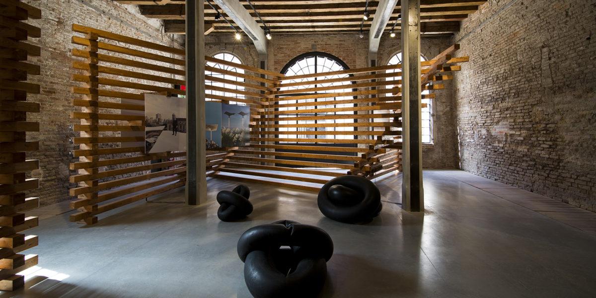 prospettiva dell'allestimento del Padiglione Argentina alla Biennale 2016