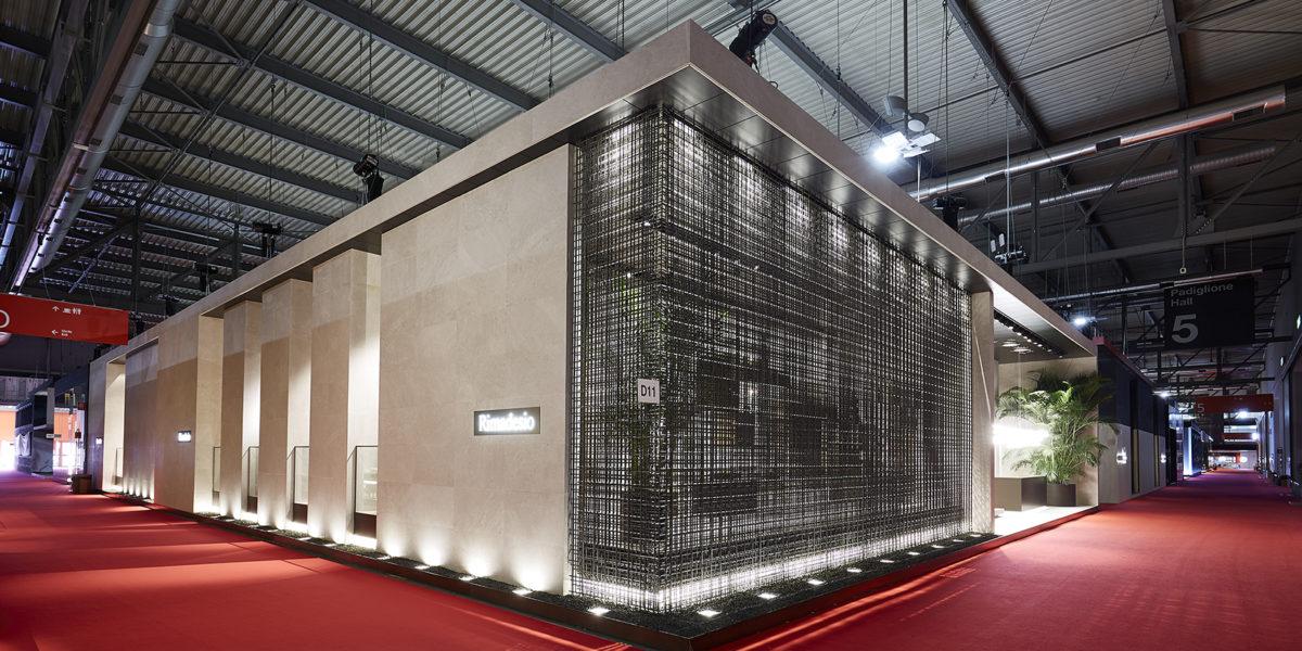 esterno stand Rimadesio Salone del Mobile Milano