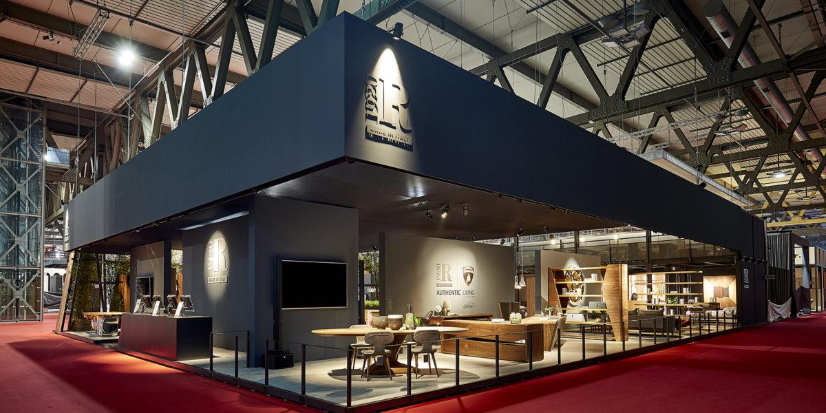 esterno stand Riva al Salone del mobile di Milano 2018