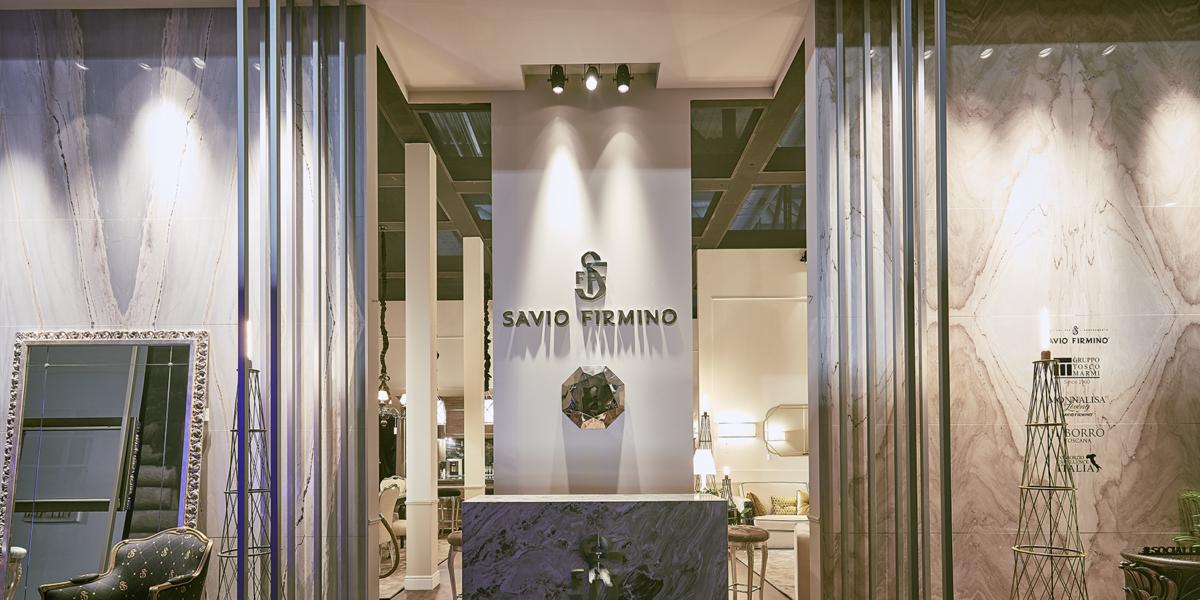 stand di Savio Firmino per il Salone del Mobile 2018