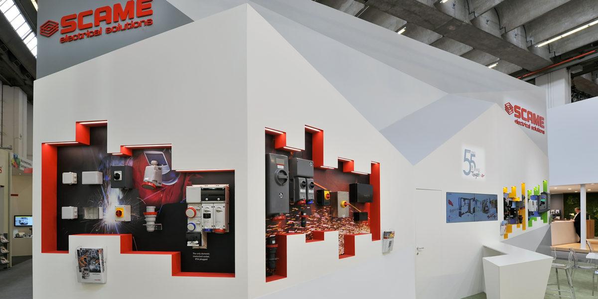 dettaglio stand Scame alla fiera Light&Building di Francoforte