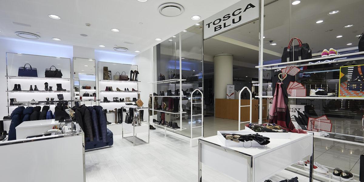 allestimento negozio Tosca Blu