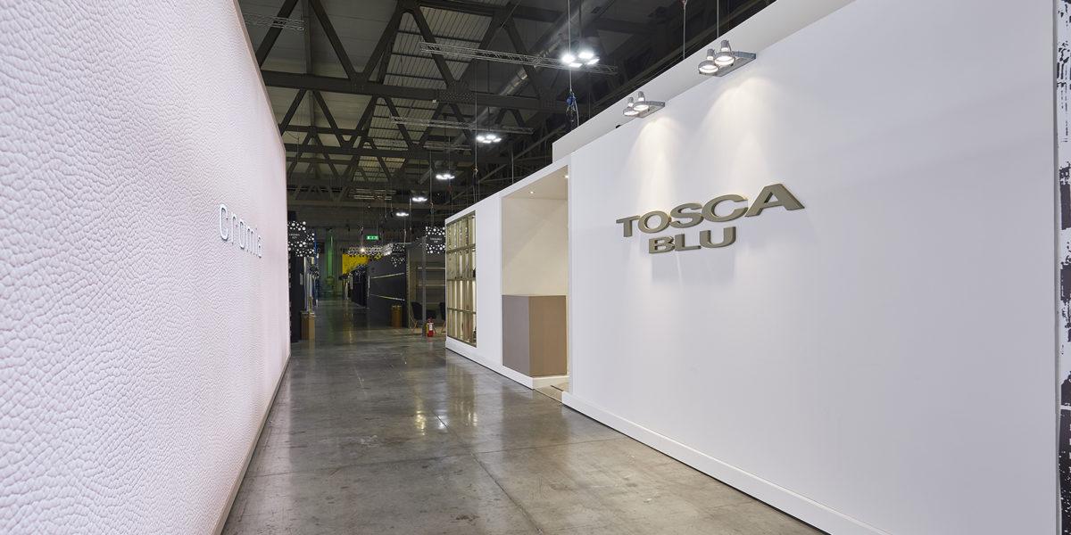 facciata stand Tosca Blu al MI PEL 2018