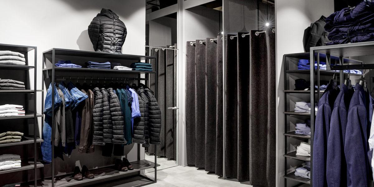 dettaglio dell'arredamento del negozio Verri a Lugano