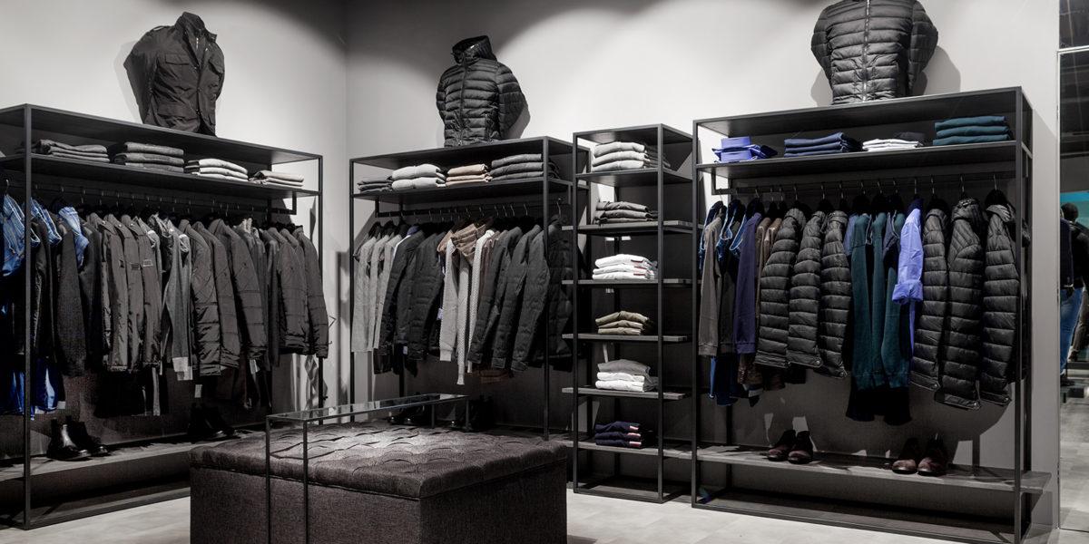 soluzione arredo di design per negozio Verri a Lugano