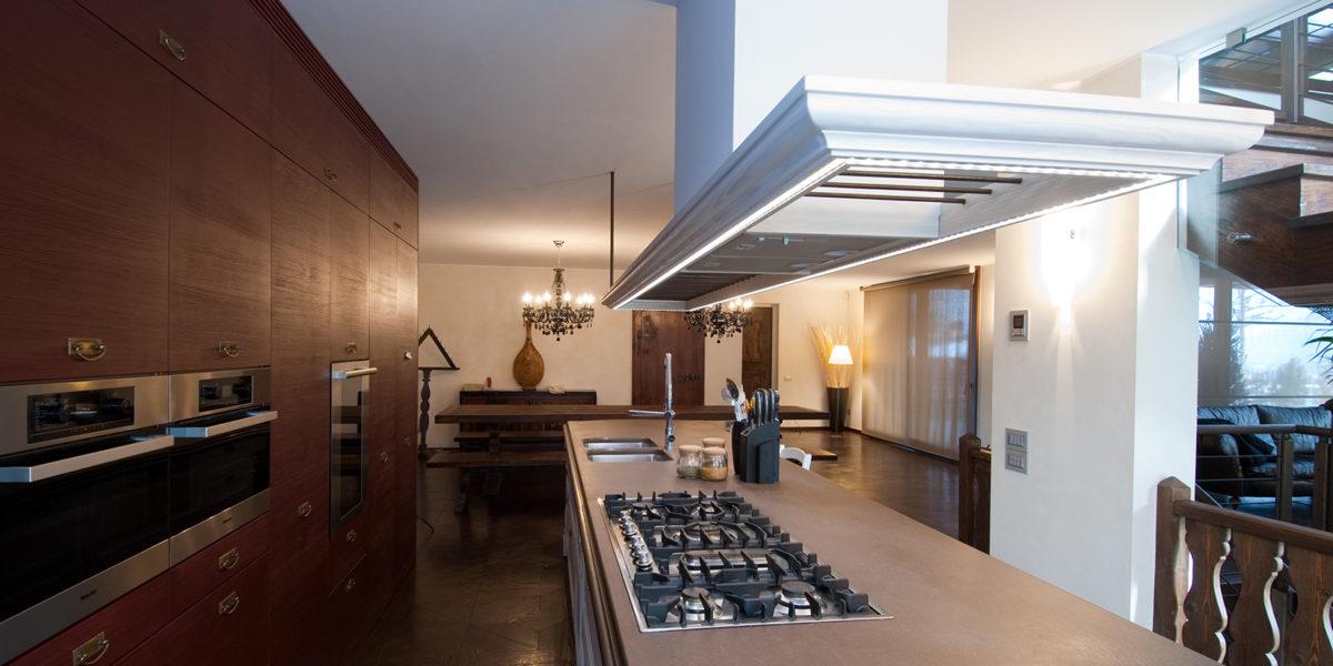 progettazione cucina neo classica
