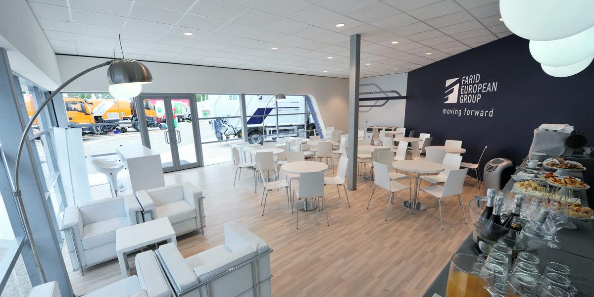 panoramica interni stand Farid per IFAT Monaco