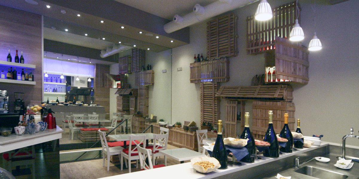 arredamento interno ristorante Farina's a Milano