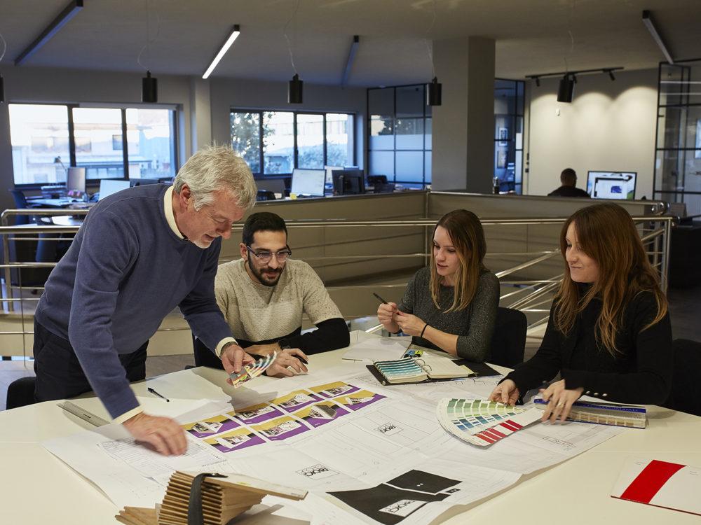 team di Standgreen durante la progettazione