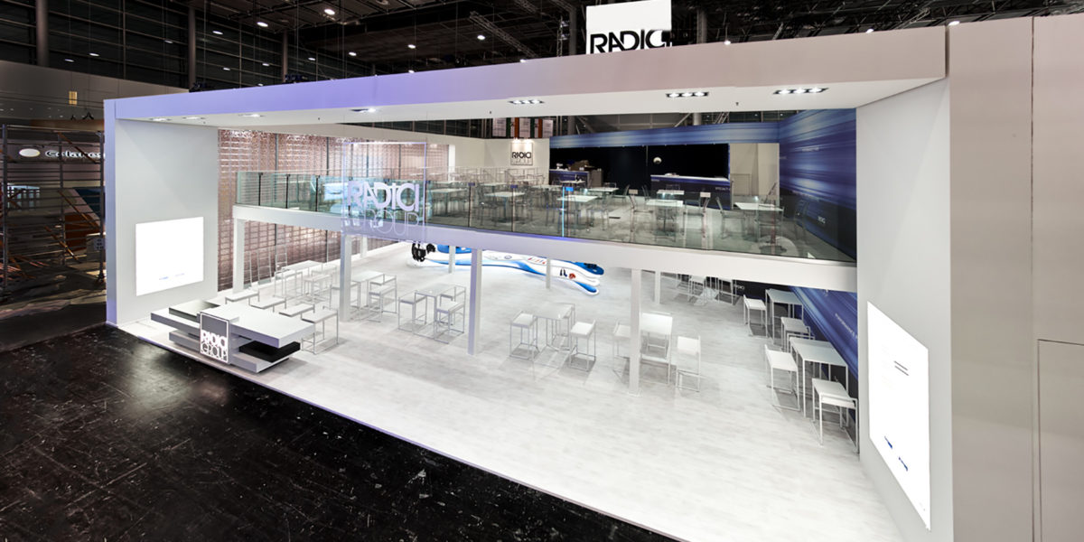 panoramica stand Radici Group la fiera K di Dusseldorf 2016