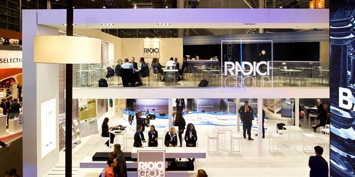 attimo della fiera K di dussldorf 2016 allo stand di Radici Group