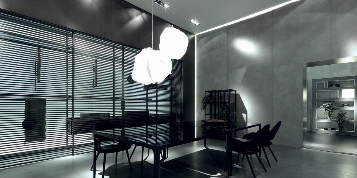 interni di design di un appartamento di Milano